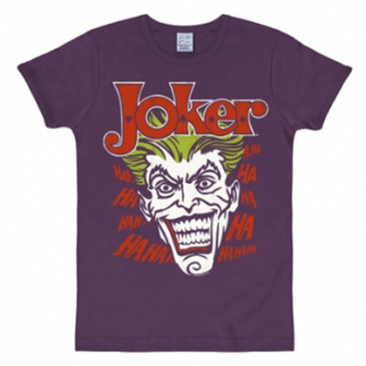 Batman Joker shirt heren slim fit paars