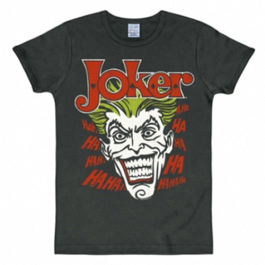 Batman Joker shirt heren slim fit zwart