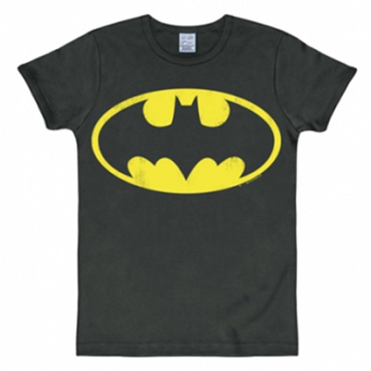 Batman logo shirt heren slim fit