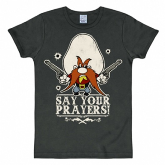 Looney Tunes Say your prayers shirt heren slim fit