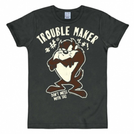 Looney Tunes Taz shirt heren slim fit
