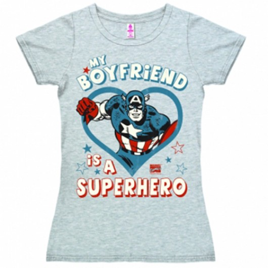 My boyfriend superhero shirt dames