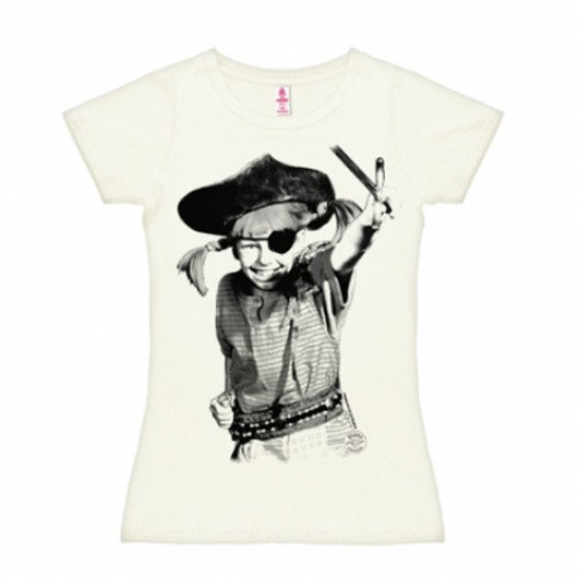 Pippi piraat shirt dames