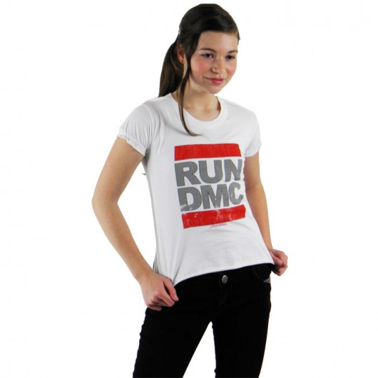 RUN DMC Vintage Logo Amplified kinder girl t-shirt wit