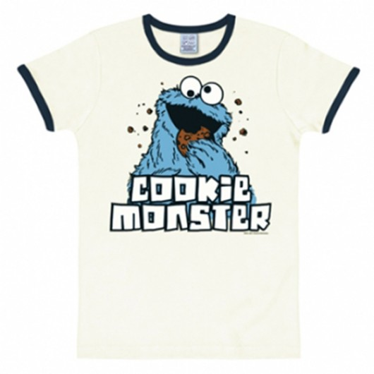 Sesamstraat Koekiemonster shirt heren slim fit wit