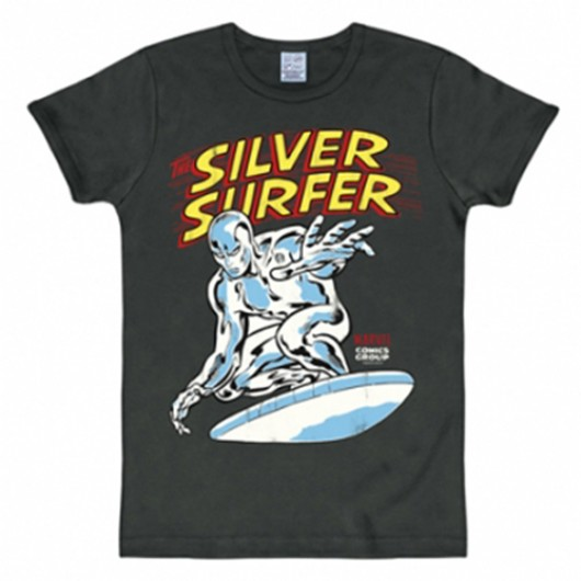 Silver surfer shirt heren slim fit zwart