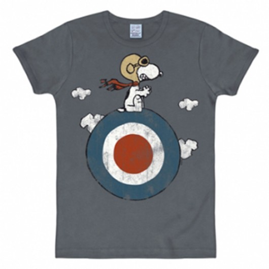 Snoopy target shirt heren slim fit blauw