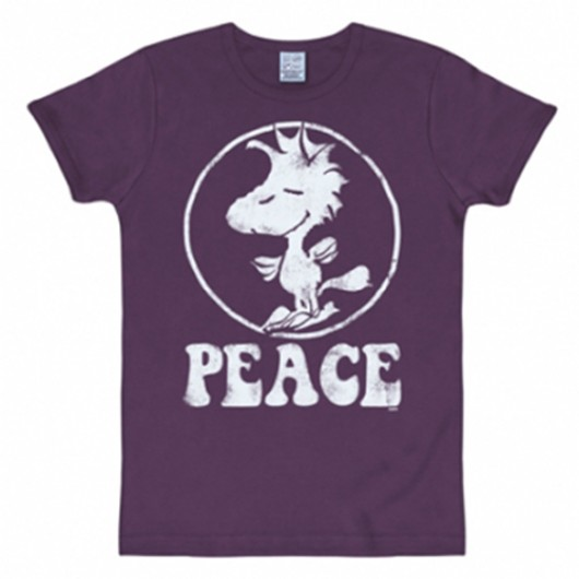 Snoopy Woodstock Peace shirt heren slim fit