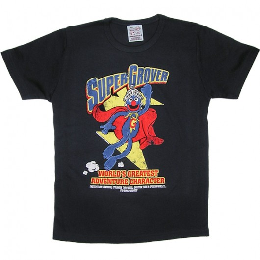 Sesamstraat Super Grover Logoshirt kinder t-shirt blauw