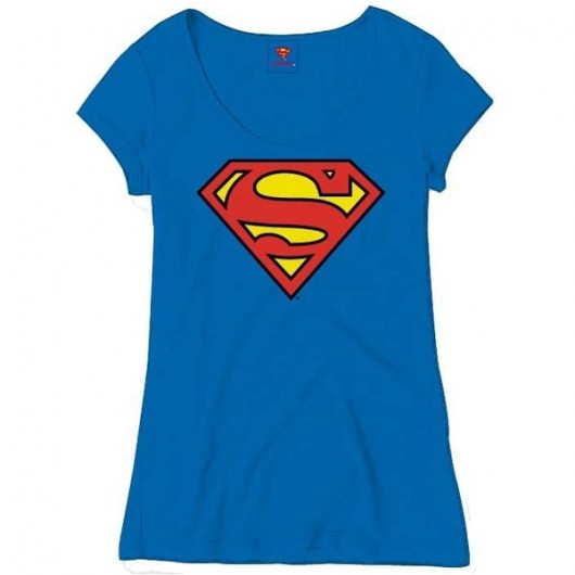 Superman classic logo shirt dames