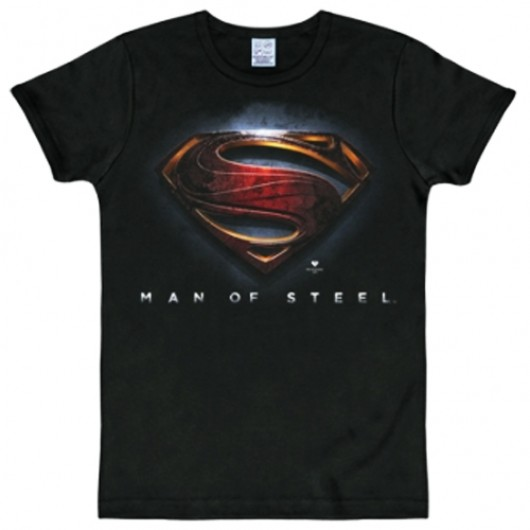 Superman man of steel shirt heren slim fit