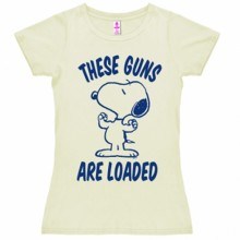 Snoopy guns are loaded shirt dames