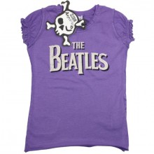The Beatles Logo Amplified kinder girl t-shirt paars