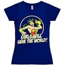 Wonder woman girls will save shirt dames