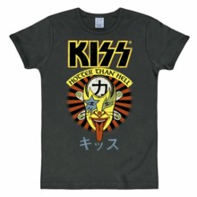 Kiss hotter than hell shirt heren slim fit